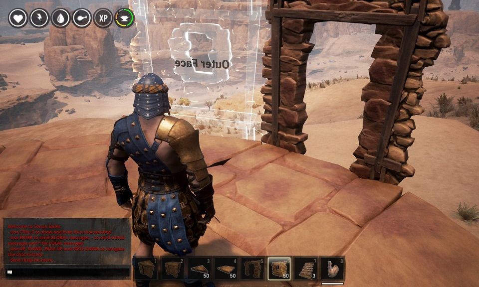 conan exiles how to use roof triangles