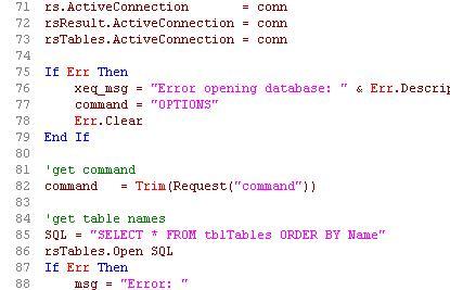 ASP code